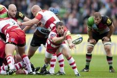 2011 Aviva Premiership-rugbyunie, Harlekijnen v Gloucester, Sept. Royalty-vrije Stock Afbeeldingen