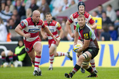 2011 Aviva Premiership-rugbyunie, Harlekijnen v Gloucester, Sept. Royalty-vrije Stock Foto's