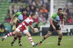 2011 Aviva Premiership-rugbyunie, Harlekijnen v Gloucester, Sept. Royalty-vrije Stock Afbeelding