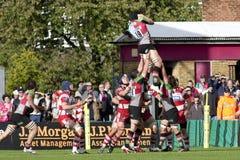 2011 Aviva Premiership rugbyunion, harlekiner V Gloucester, Sept royaltyfri fotografi
