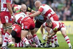 2011 Aviva Premiership rugbyunion, harlekiner V Gloucester, Sept arkivfoton