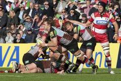 2011 Aviva Premiership rugbyunion, harlekiner V Gloucester, Sept fotografering för bildbyråer