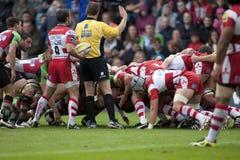 2011 Aviva Premiership rugbyunion, harlekiner V Gloucester, Sept royaltyfri bild