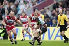 2011 Aviva Premiership rugbyunion, harlekiner V Gloucester, Sept royaltyfria bilder