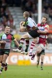 2011 Aviva Premiership-Rugbyverband, Harlekine V Gloucester, Sept. Lizenzfreies Stockbild