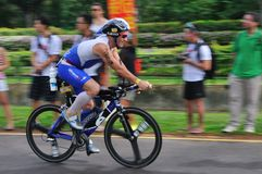 Aviva singapore ironman triathlon 2011 Royalty Free Stock Photography