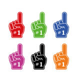 Avive el guante de la mano con el ejemplo plano aumentado finger del icono del vector de la espuma stock de ilustración