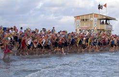 avivtelefon-triathlon Royaltyfria Foton