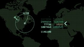 avkänner globala GPS data för 4k för GPS för radar för jordöversikten den militära manöverenheten navigering lager videofilmer