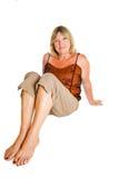 avkopplad pensionär för lady Royaltyfri Fotografi
