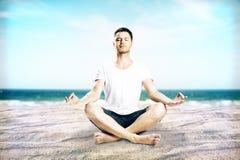 Avkoppling- och meditationbegrepp royaltyfri fotografi