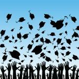avlägga examen deltagare stock illustrationer