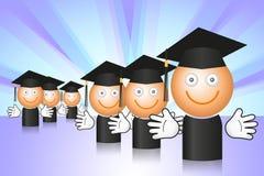 avlägga examen deltagare Arkivbild