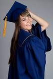 avlägga examen för flicka Royaltyfria Bilder