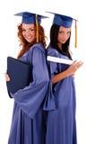 avlägga examen för flickor Arkivbilder