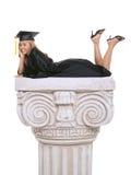 avlägga examen kvinnan Arkivbilder