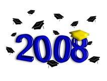avläggande av examen för 2008 blue Arkivbilder