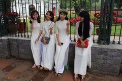 Avläggande av examen 2017 på Hanoi Vietnam Royaltyfria Foton