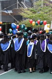 avläggande av examen ståtar royaltyfri foto