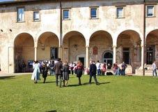 Avläggande av examendag i Italien Arkivfoto