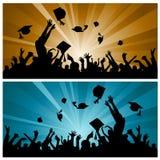 avläggande av examendeltagare Arkivbilder