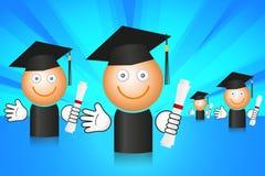 avläggande av examendeltagare Arkivfoto