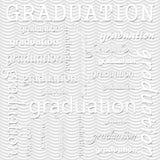 Avläggande av examendesign med Gray Wavy Stripes Pattern Repeat Backgrou Royaltyfri Foto