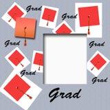 avläggande av examenhattscrapbook Royaltyfri Fotografi