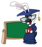 avläggande av examenkanin stock illustrationer