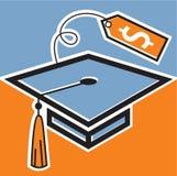 Avläggande av examenlock med prislappen Vektor Illustrationer