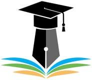 Avläggande av examenlogo Arkivbild