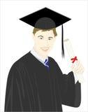 avläggande av examenvektor royaltyfri illustrationer