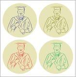 avläggande av examenvektor arkivfoto