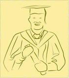 avläggande av examenvektor Fotografering för Bildbyråer
