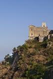 Avlägsen by i Sicilien Arkivfoto