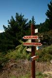 avlägsen indikerande signpost för städer arkivfoton