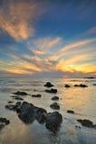 avlägsen seascape för östlig afton Royaltyfri Foto