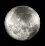 Avlägsen sida för fullmåne arkivfoto
