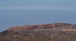 Avlägsen sikt från berget vid tenerife arkivfoto