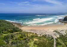 Avlägsen strandsydkust Australien royaltyfria foton