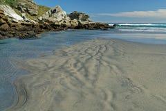 Avlägsen västkustenstrand på den södra ön av Nya Zeeland fotografering för bildbyråer