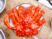 Avlägset - östlig krabba som fångas av mannen arkivfoton
