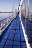 avlägset cruiselinerdäck Arkivbilder