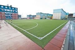 Avlägset norr fotbollfält arkivfoton