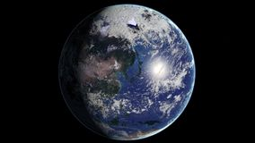 avlägset planet för jord österut Arkivfoton