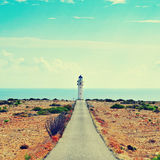 Avlägsna de Barbaria i Formentera, Balearic Island, Spanien Royaltyfri Bild