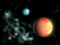 avlägsna planet stock illustrationer