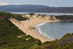 Avlägsna Sandy Beach Royaltyfria Bilder
