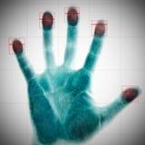 avläsa för fingeravtryck Arkivfoto