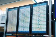 Avläsare Boards för flygbolagavvikelseankomst royaltyfri foto